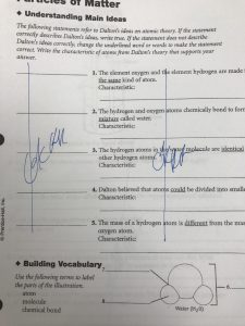 "Worksheet, black text on white paper. Blue lines ""Ok"" with signature through problems 1-5."